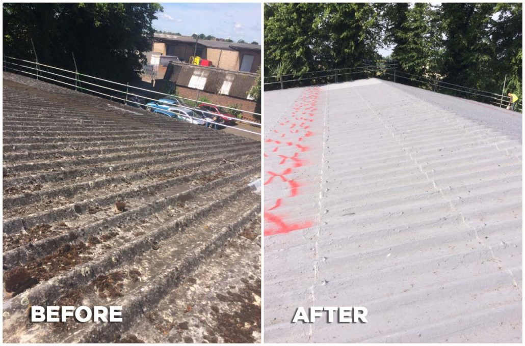 Roofing before and after Shrewsbury
