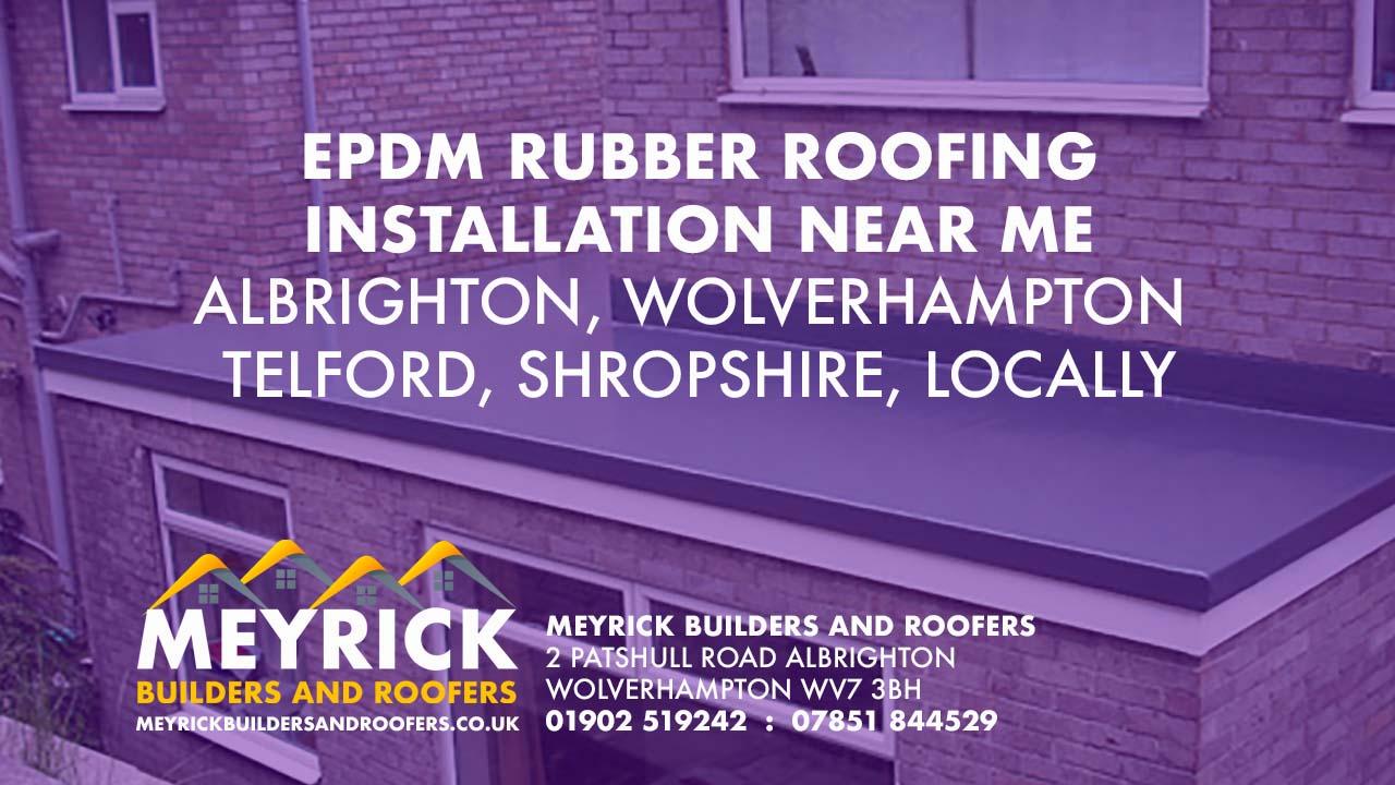 Rubber Roofing Wolverhampton Telford Meyrick Builders