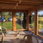 Just working are way through a beautiful oak framed orangery , and bi fold doors...